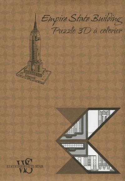 Empire State Building ; puzzle 3D à colorier