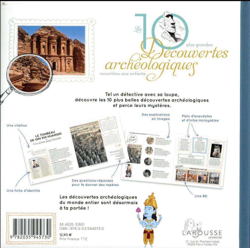 Les 10 grandes découvertes archéologiques racontées aux enfants