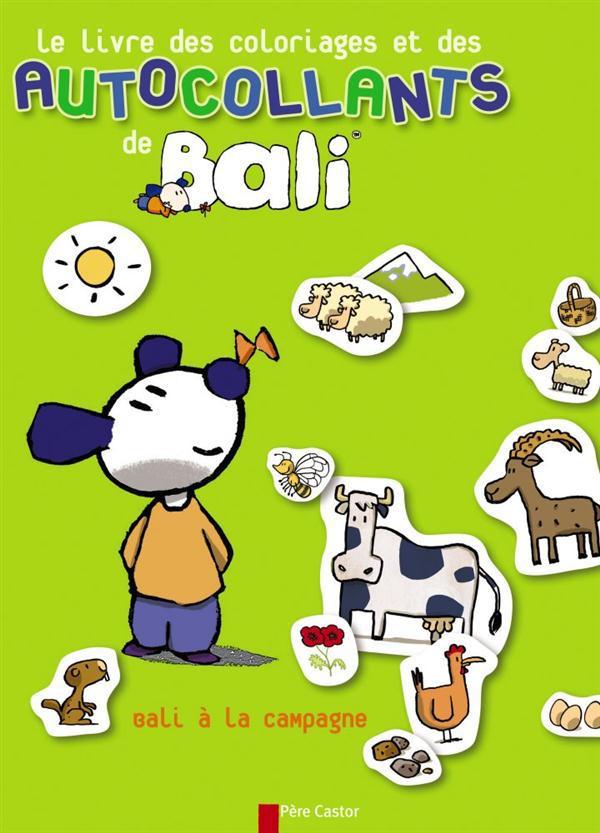 Le livre des coloriages et des autocollants de Bali ; Bali à la campagne