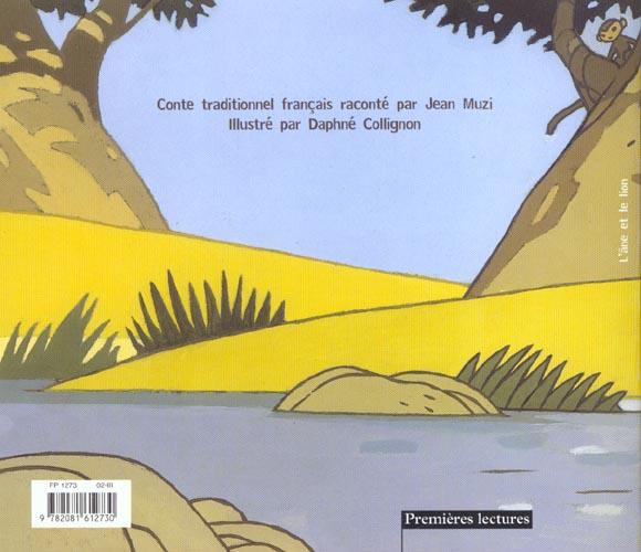 L'ane et le lion - conte traditionnel francais