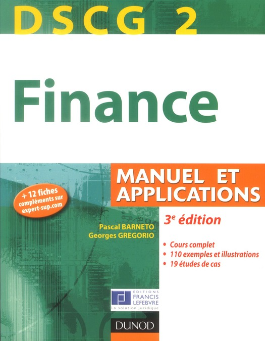 Dscg 2 ; Finance ; Manuel Et Applications (3e Edition)