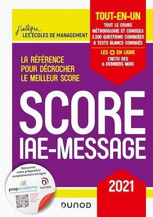 Score IAE-Message ; tout-en-un (édition 2021)