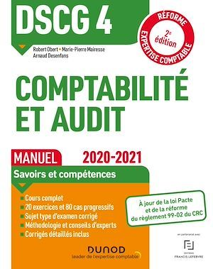 DSCG 4 ; comptabilité et audit ; manuel (édition 2020/2021)