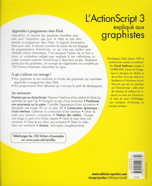 l'Actionscript 3 expliqué aux graphistes ; comment programmer facilement dans Flash