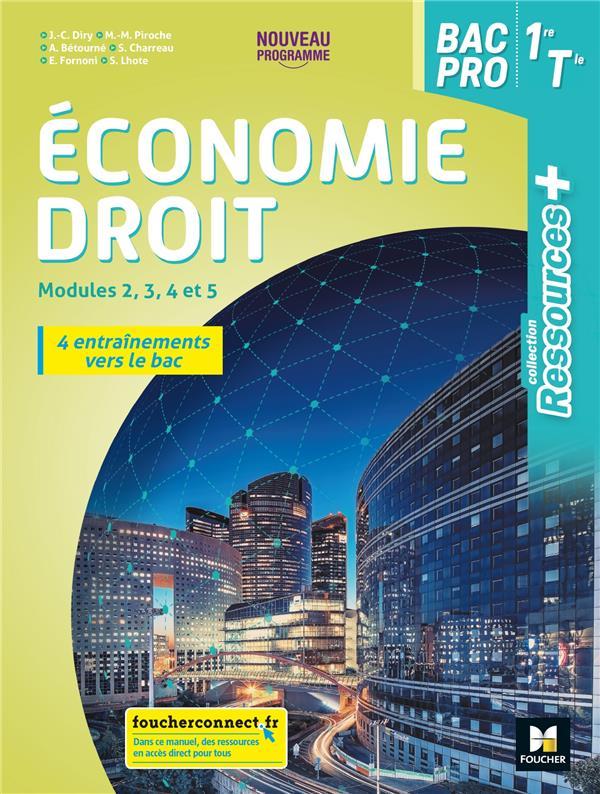 RESSOURCES + ; économie-droit ; 1re, terminale bac pro ; livre élève (édition 2020)