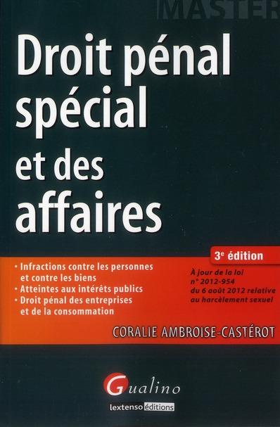 Droit Penal Special Et Des Affaires (3e Edition)
