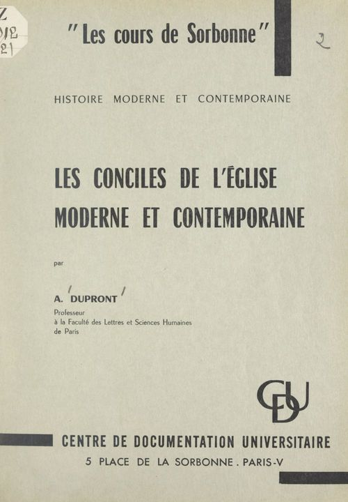 Les conciles de l'Église moderne et contemporaine