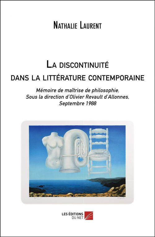 La discontinuité dans la littérature contemporaine