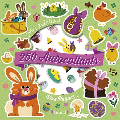250 autocollants ; vive Pâques !