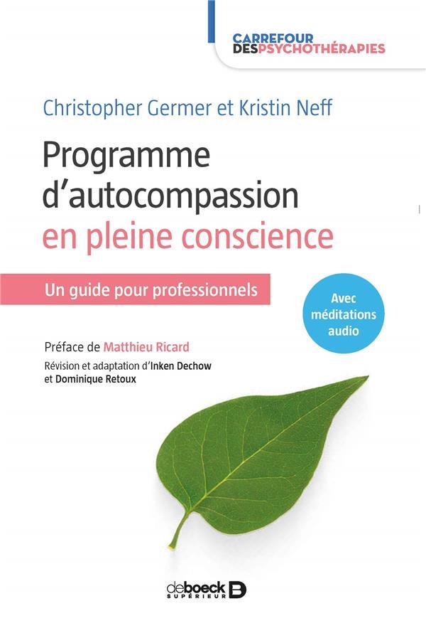 Programme d'autocompassion en pleine consciente