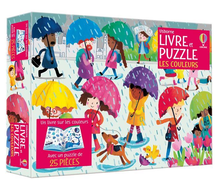 les couleurs : coffret livre et puzzle