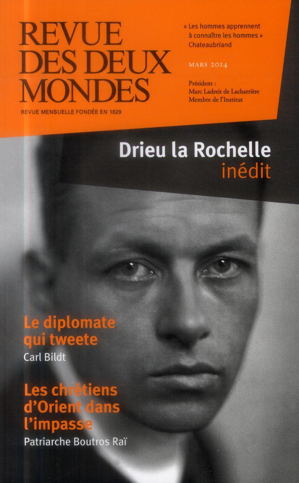 REVUE DES DEUX MONDES ; Drieu la Rochelle