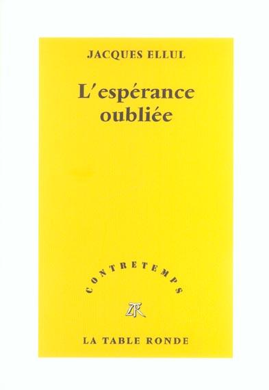 CONTRETEMPS  -  L'ESPERANCE OUBLIEE