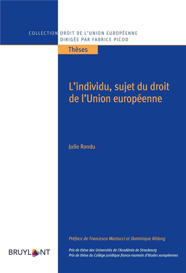 L'individu, sujet du droit de l'Union européenne