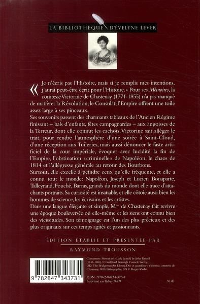 Victorine de Chastenay ; mémoires 1771-1855