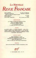 La Nouvelle Revue Française N° 371