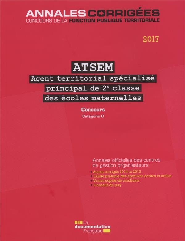 ATSEM principal 2e classe 2017 ; concours