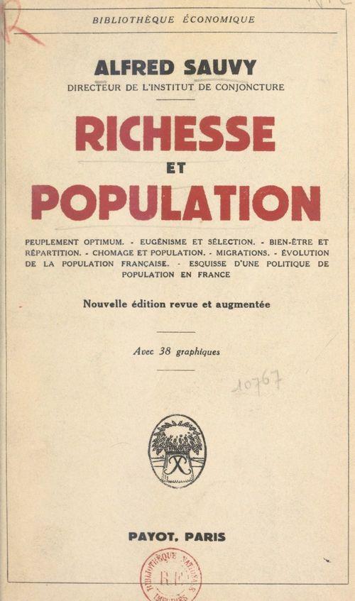 Richesse et population