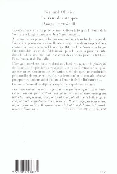 Longue Marche T3 Le Vent Des Steppes Jusqu En Chine Par La Route De La Soie Bernard Ollivier Phebus Grand Format Espace Culturel Leclerc St Leu