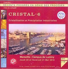 Recents progres en genie des procedes n. 99 2010 : cristal 6. cristallisation et precipitation indus