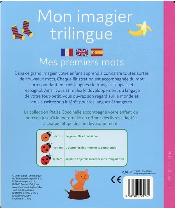 mon imagier trilingue : mes 100 premiers mots