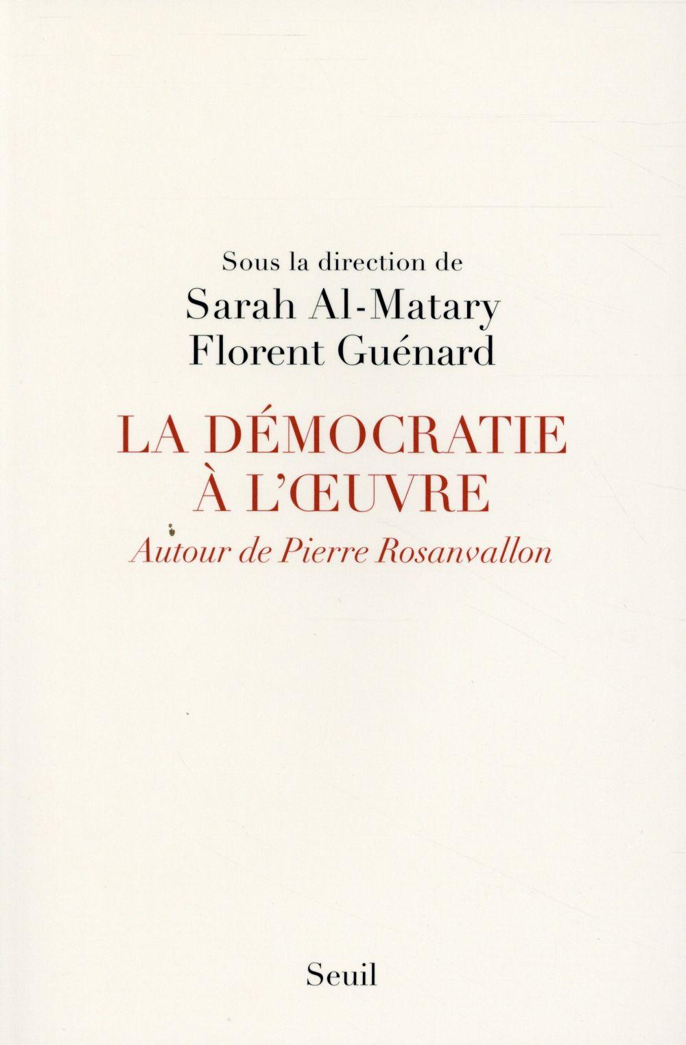La démocratie à l'oeuvre ; autour de Pierre Rosanvallon