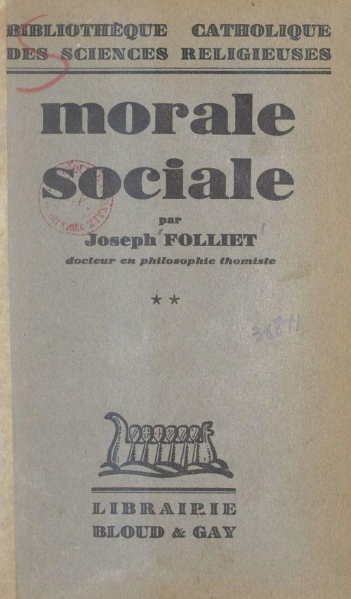 Morale sociale (2)  - Joseph Folliet