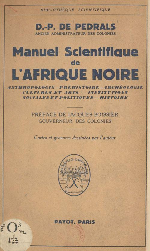 Manuel scientifique de l'Afrique noire