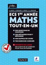 Vente Livre Numérique : ECS 1re année - Maths - Tout-en-un  - Olivier Sarfati - Frédéric Brossard - Baptiste Frelot - Paul-Louis Donnard