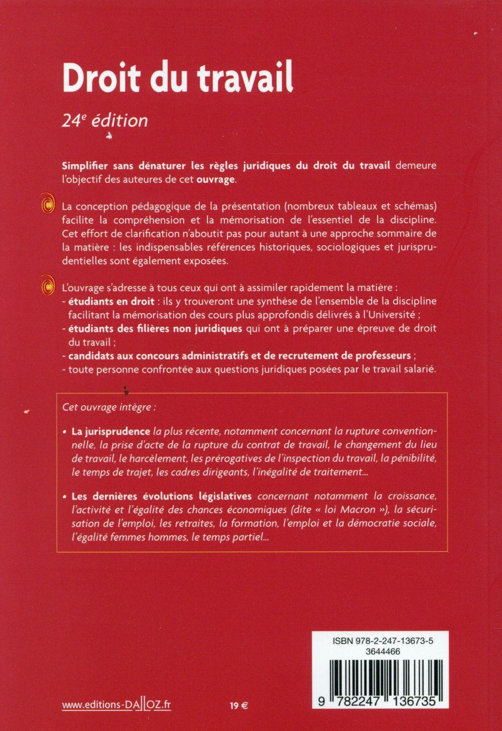 Le droit du travail (24e édition)