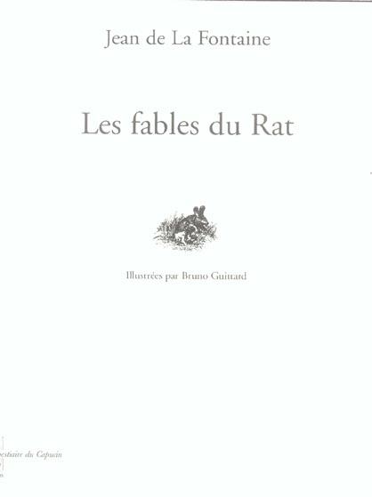 Les fables du rat