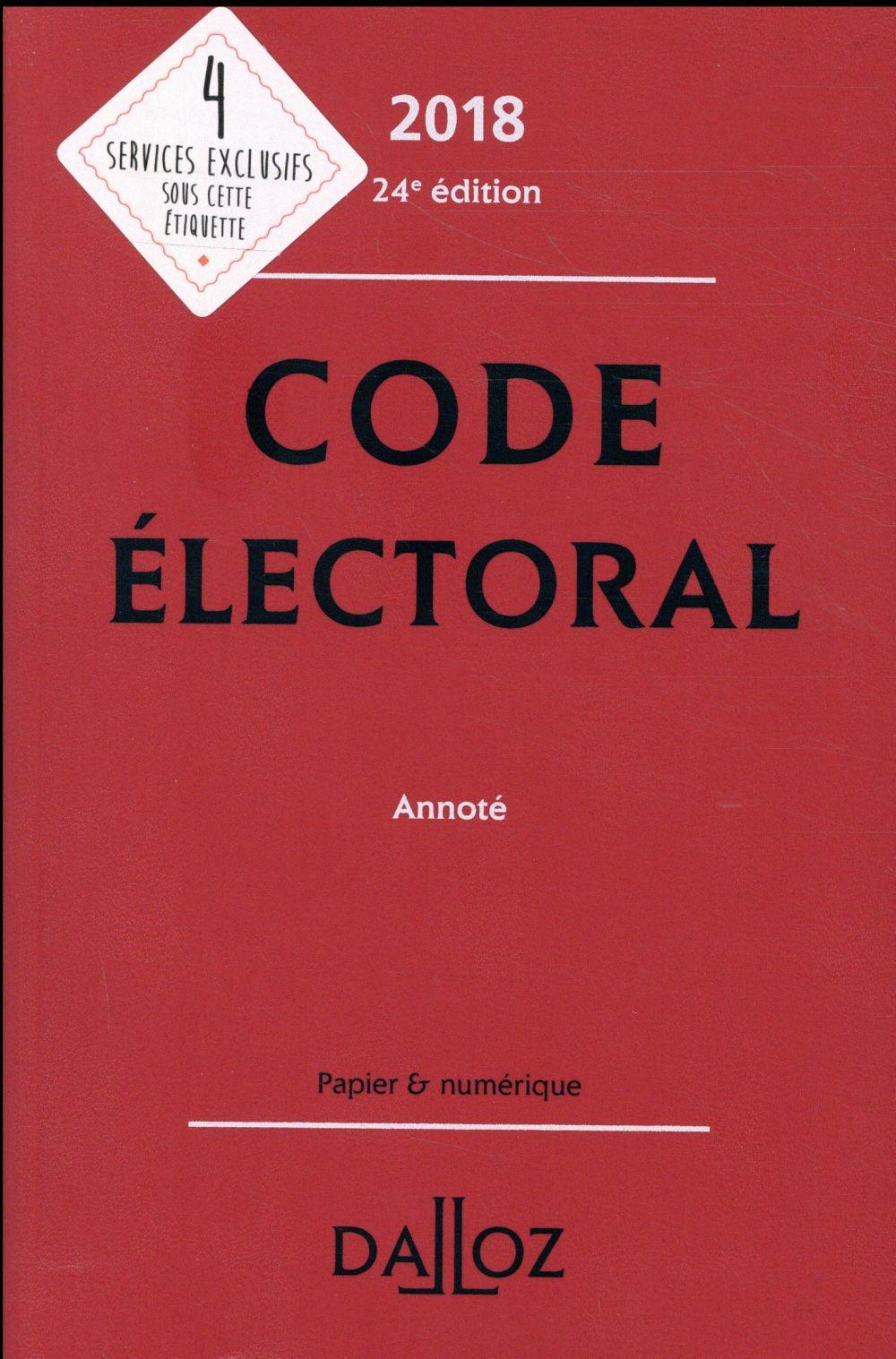 Code électoral annoté (édition 2018)
