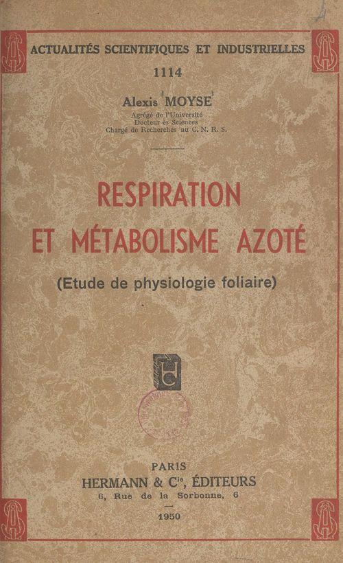 Respiration et métabolisme azoté