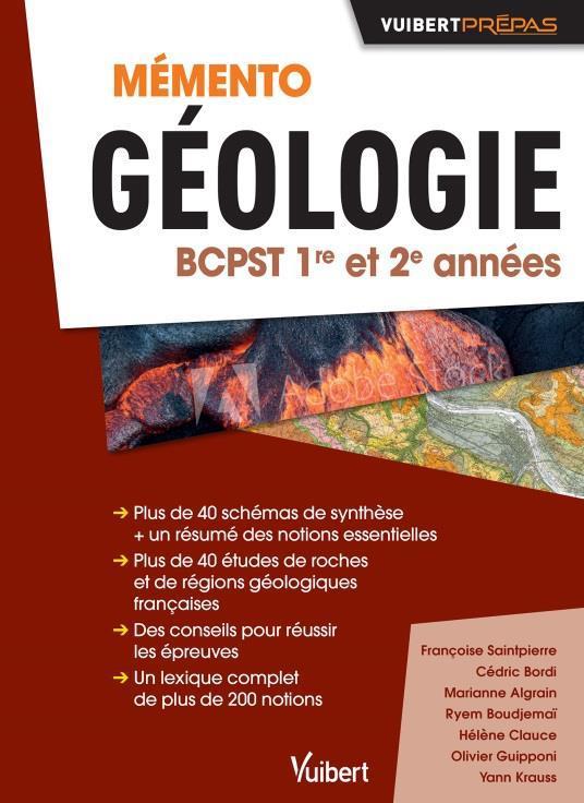 MEMENTO GEOLOGIE  -  BCPST  -  1RE ET 2E ANNEE XXX