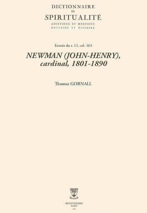 NEWMAN (JOHN-HENRY), cardinal, 1801-1890