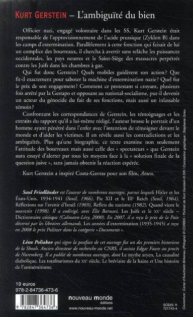 Kurt Gerstein ; l'ambiguïté du bien