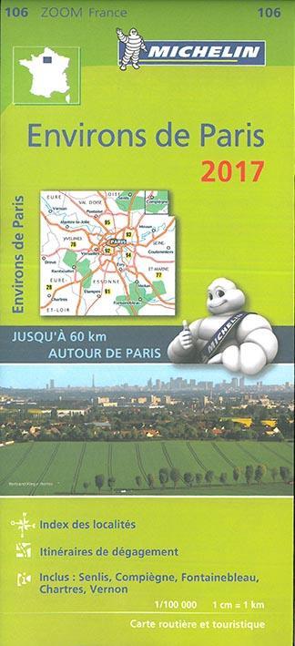 Carte environs de Paris (édition 2017)