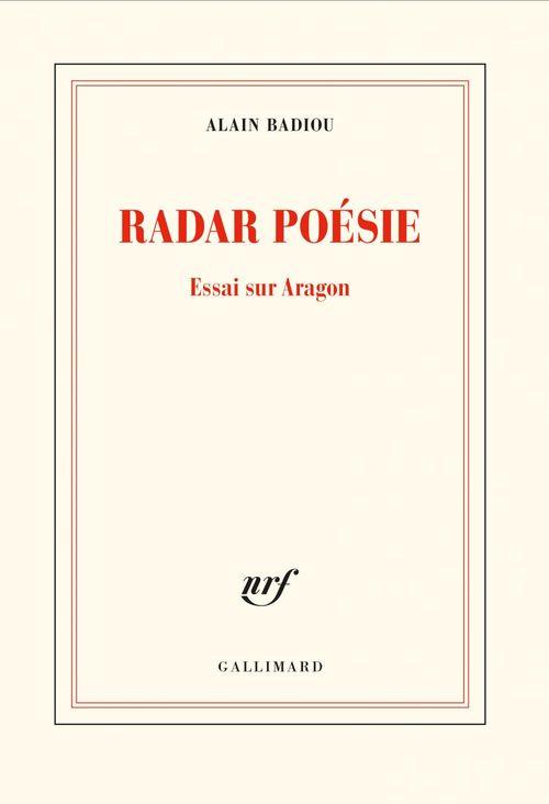 Radar poésie ; essai sur Aragon