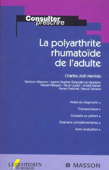 La Polyarthrite Rhumatoide De L'Adulte