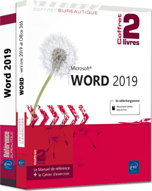 Word (versions 2019 et Office 365) ; coffret de 2 livres : le manuel de référence + le cahier d'exercices