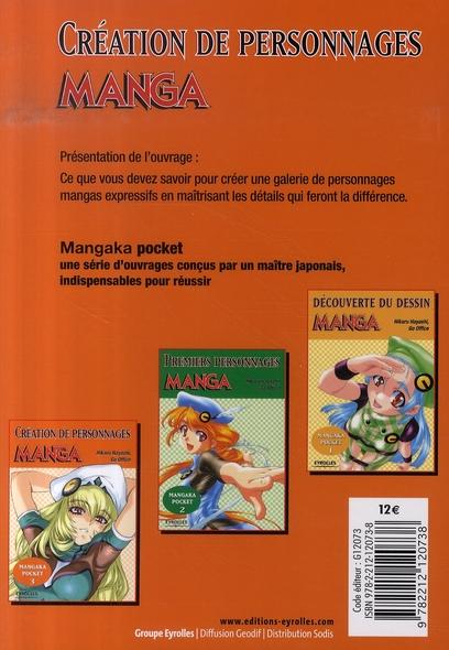 Mangaka pocket t.3 ; création de personnages manga