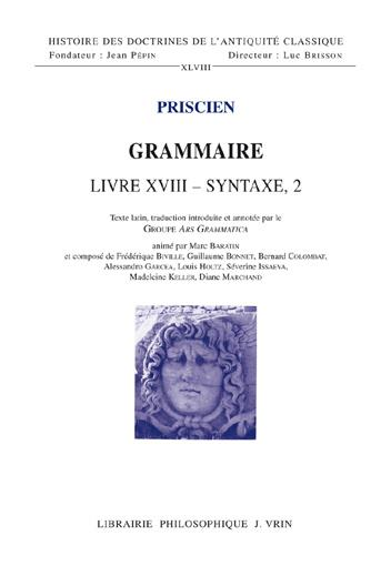 Grammaire ; livre XVIII - syntaxe, 2