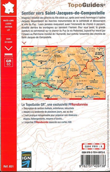 Sentier vers Saint-Jacques-de-Compostelle ; Le Puy - Figeac