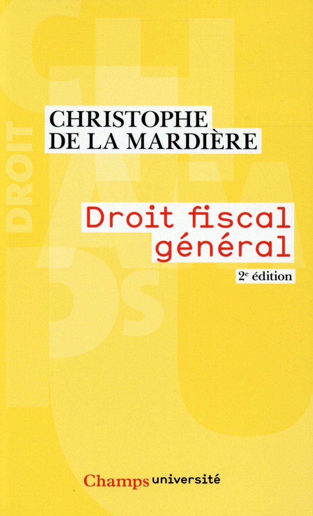 droit fiscal général (2e édition)