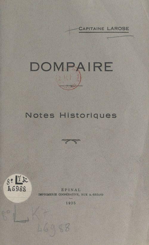Dompaire  - Capitaine Larose