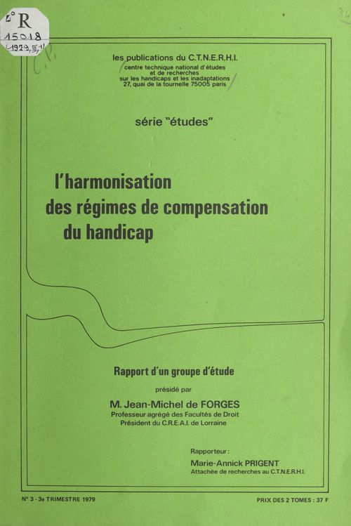 L'harmonisation des régimes de compensation du handicap