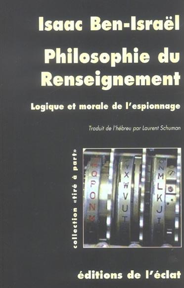 Philosophie du renseignement
