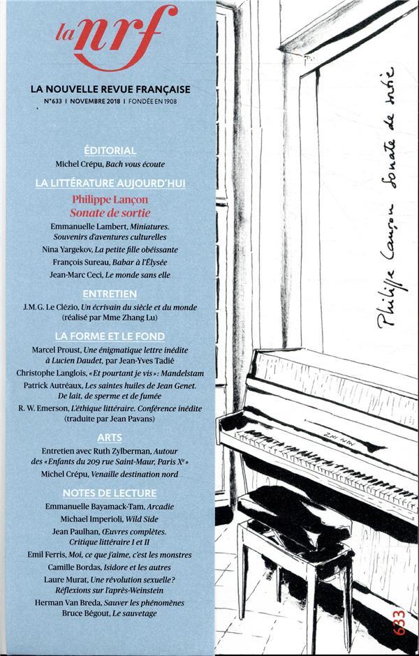 La nouvelle revue francaise n.633