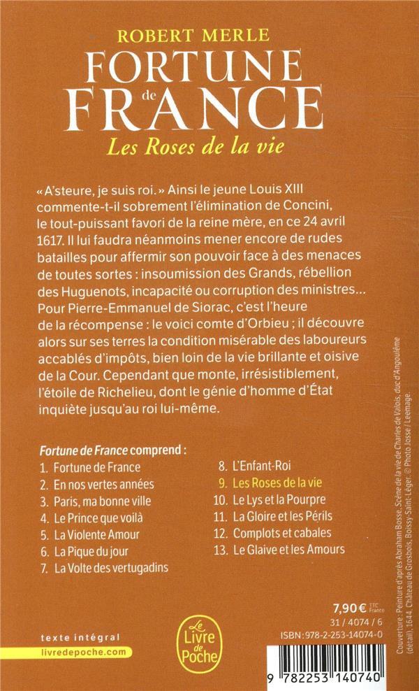 Fortune de France t.9 ; les roses de la vie
