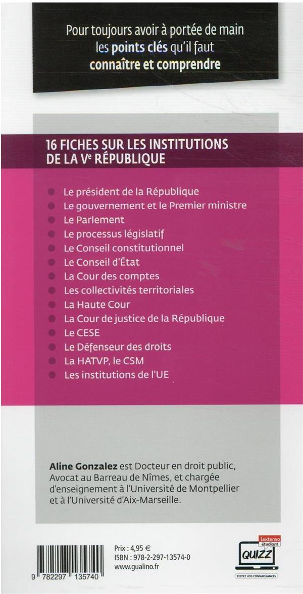 Institutions de la Ve République (édition 2021/2022)